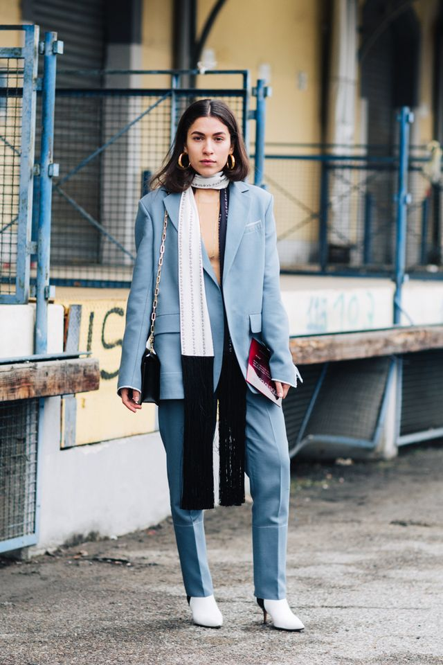 cute all-gray outfits for the office