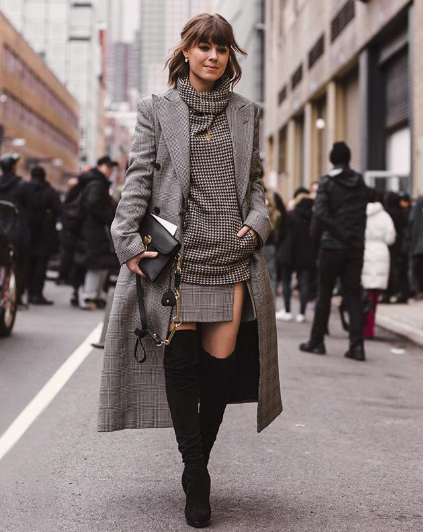 stylish all-gray outfits