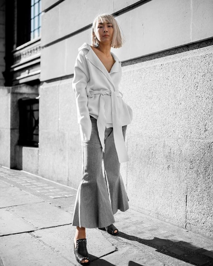 stylish all-gray outfits to copy