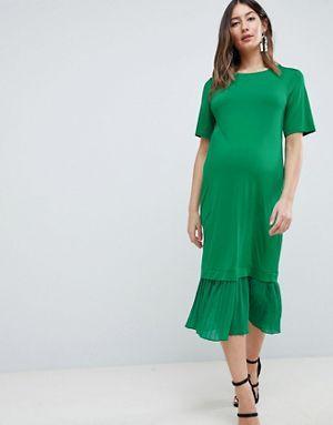 ASOS Maternity Maternity Midi T-Shirt Dress