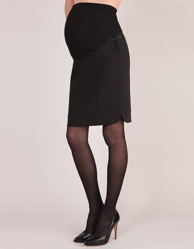 Seraphine Black Maternity Pencil Skirt