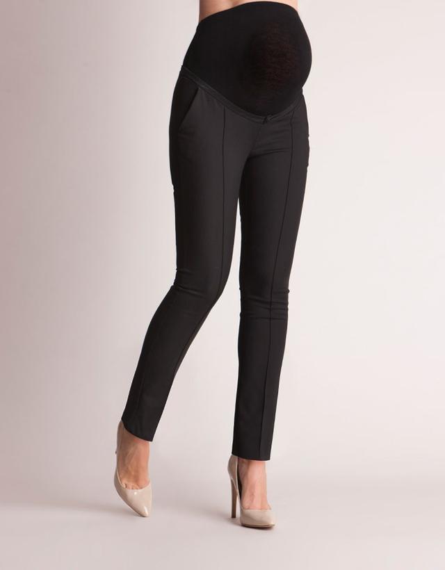 Seraphine Slim Fit Black Maternity Pants
