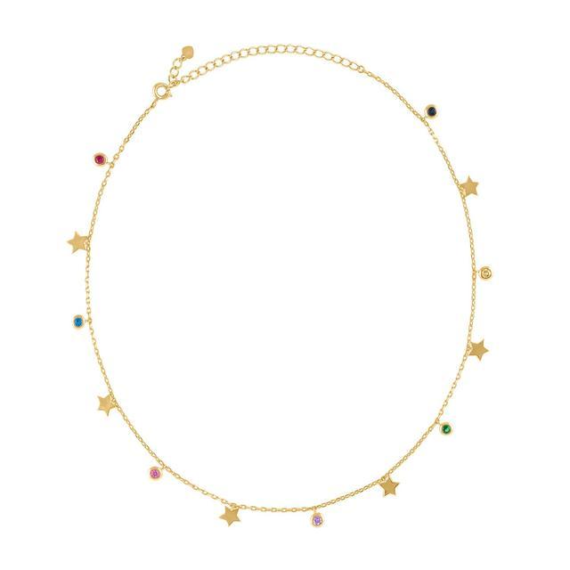 Alex Mika Rainbow Star Necklace