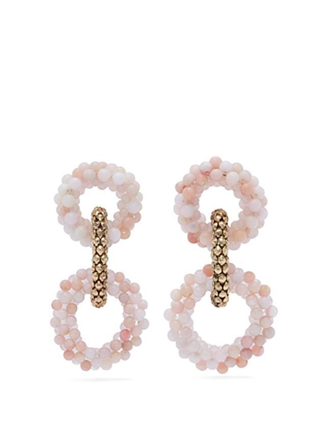 Carramato beaded drop earrings