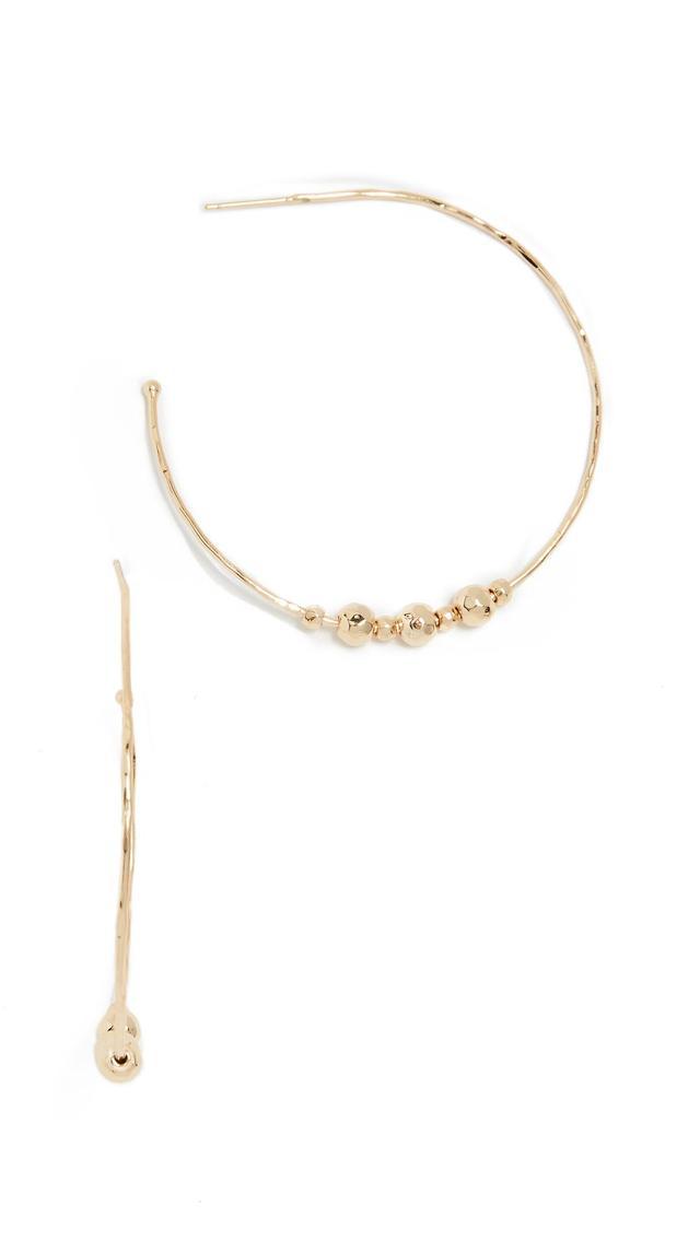 Taner Beaded Hoop Earrings