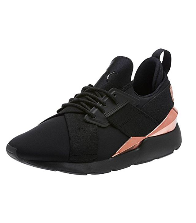 Puma Muse Black Rose Gold Sneakers