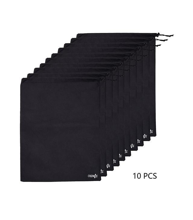 Cosmos Non-Woven Black Color Shoe Bags