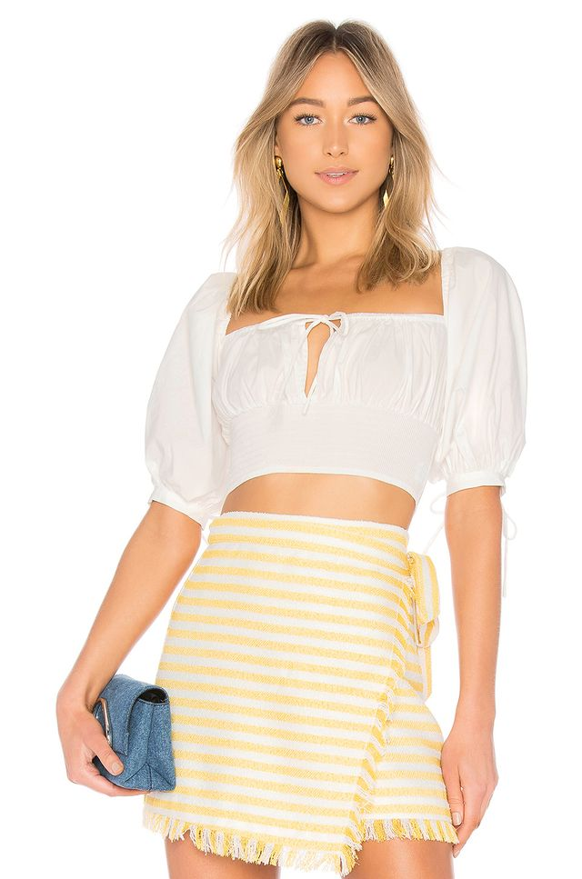 LPA Puff Sleeve Peasant Top