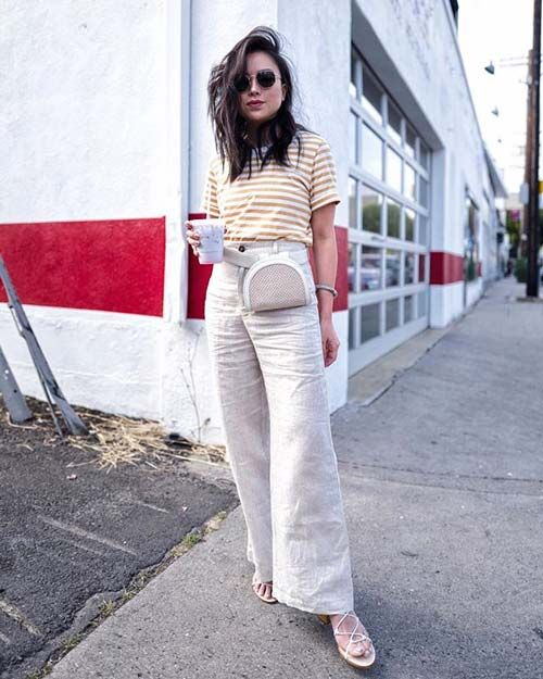 781c82fc172b These 15 Outfits Prove You Need Beige Pants For Summer Who What Wear