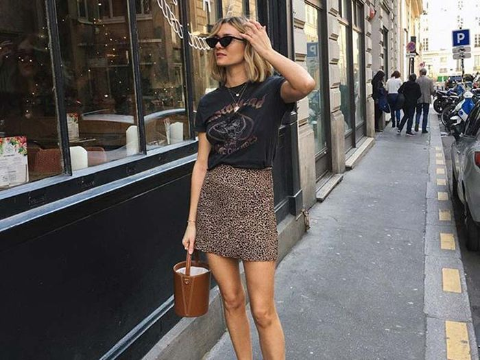 0ad97b85a8 15 of the Best Skirt-and-T-Shirt Outfits   Who What Wear