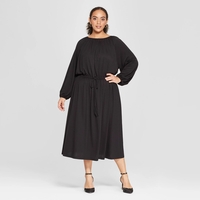 Who What Wear Plus Size Long Sleeve Maxi Knit Dress