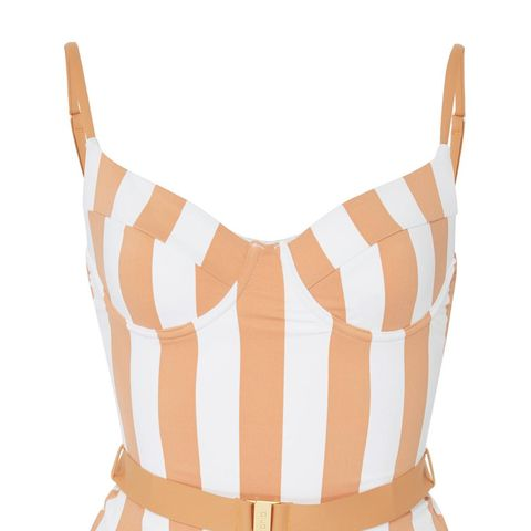 Danielle Belted Striped Swimsuit