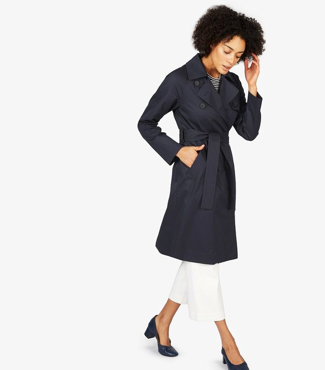 Women's Drape Trench Coat by Everlane in Navy, Size S