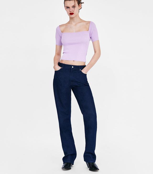Zara Off-the-Shoulder Crop Top