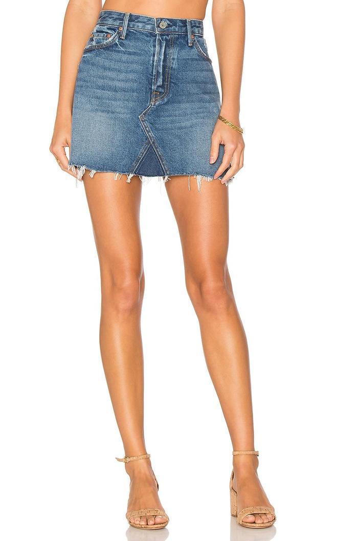 15 Really Cute High-Waisted Denim Skirts  7b25c6c31344
