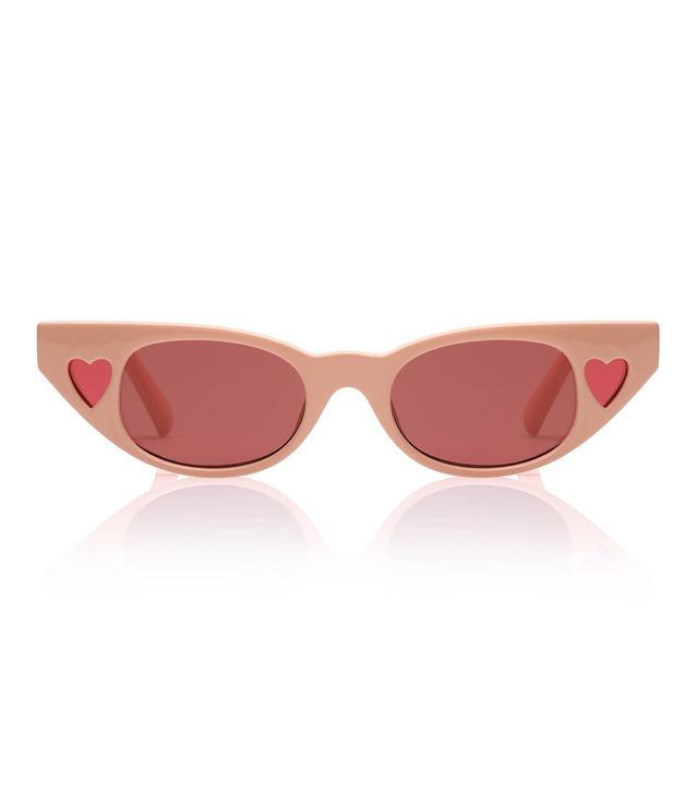 Adam Selman x Le Specs The Heartbreaker Sunglasses in Blush Rose