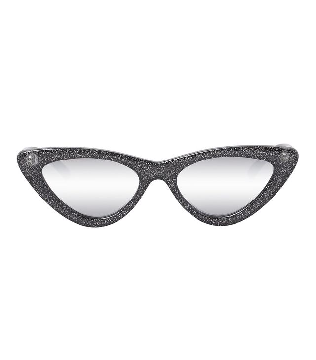 Adam Selman x Le Specs The Last Lolita in Black Glitter