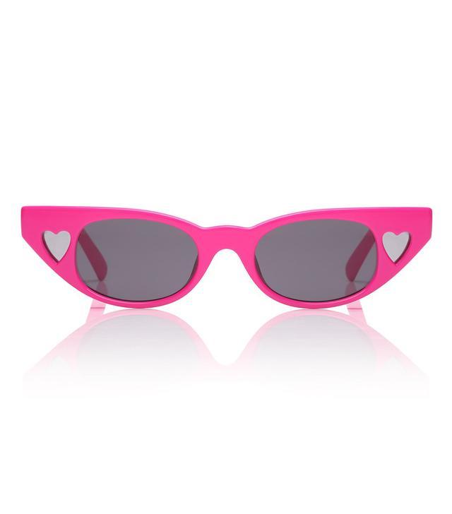 Adam Selman x Le Specs The Heartbreaker Sunglasses in Hot Pants Pink