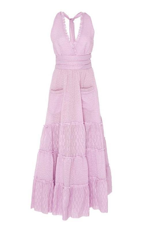 M'O Exclusive Ruffled Cotton Midi Dress