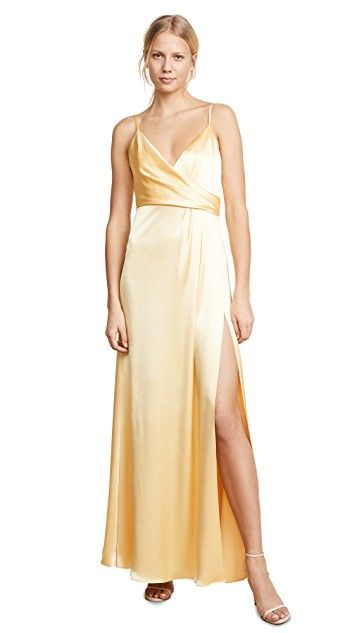 Yellow Silk Wedding  Gown