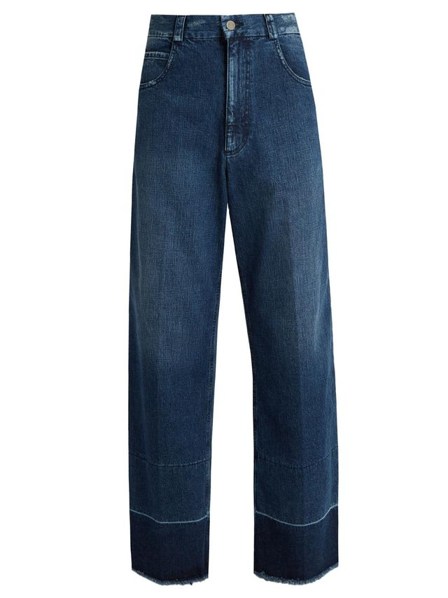 Legion frayed-edge wide-leg jeans