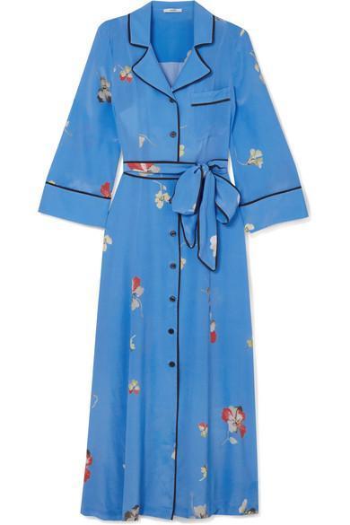 Joycedale Floral-print Silk Crepe De Chine Maxi Dress