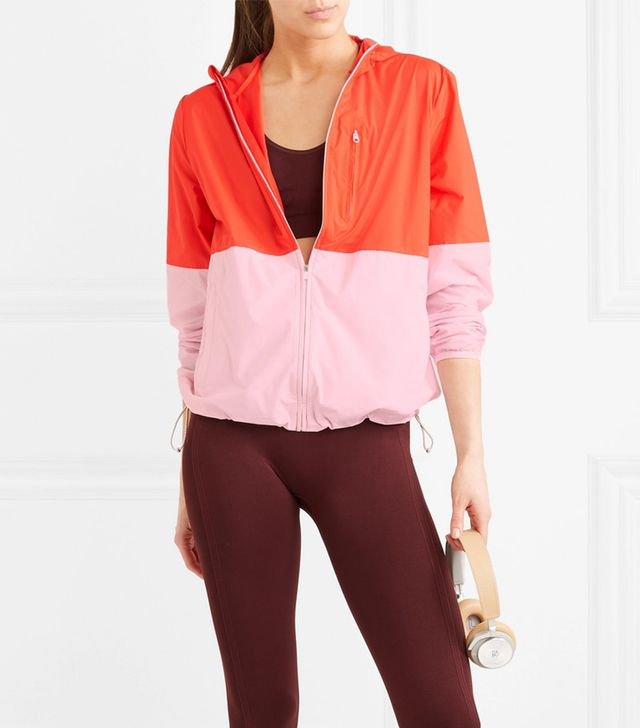 Hooded Two-tone Shell Jacket