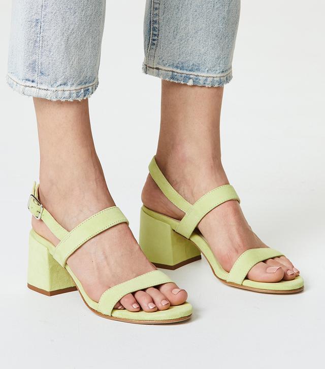 Pearl Block Heel Sandals