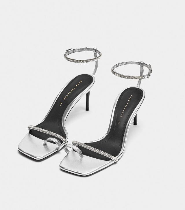 Zara Shiny High-Heeled Sandals