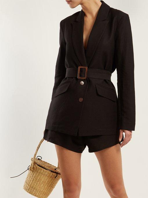 Paloma linen blazer