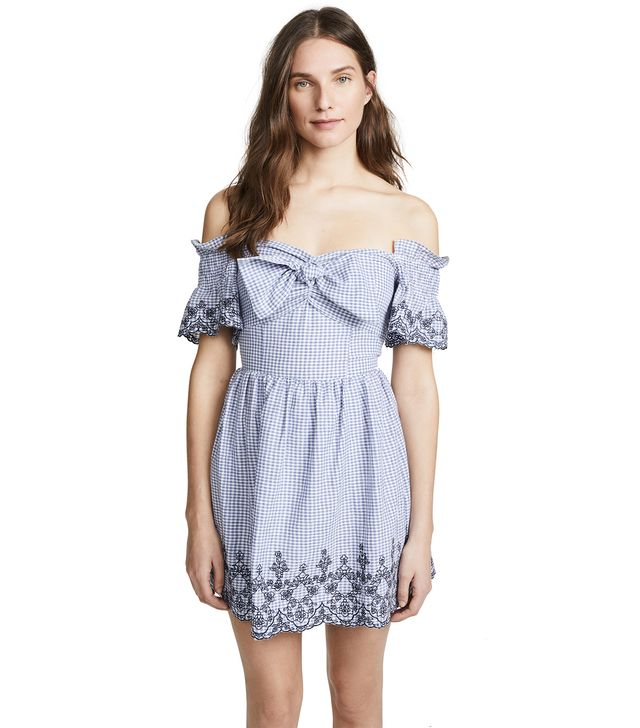 Tie Front Gingham Dress