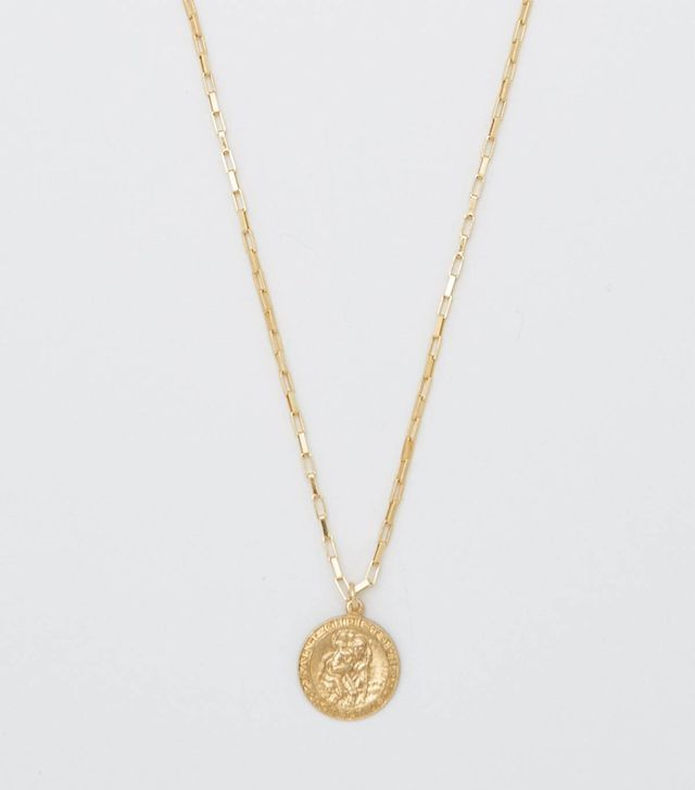 Bagatiba Saint Christopher Box Chain Necklace