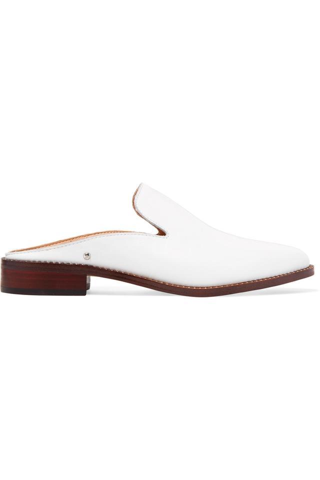 Sam Edelman Crystal-Embellished Leather Slippers