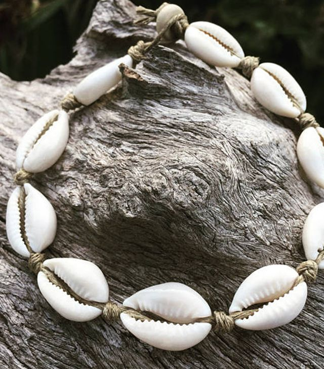 Etsy Hand Made Hemp Shell Anklet With Cowrie Shells, Sea Gypsy Bohemian