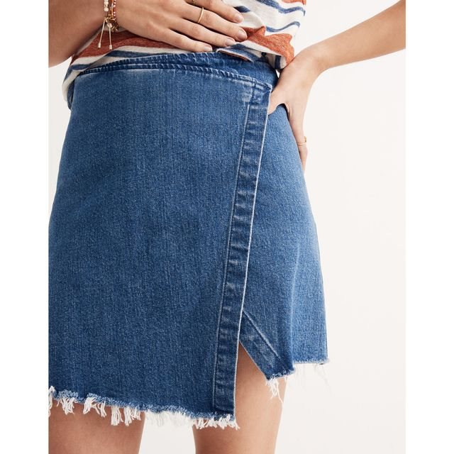 Madewell Wrap Denim Skirt