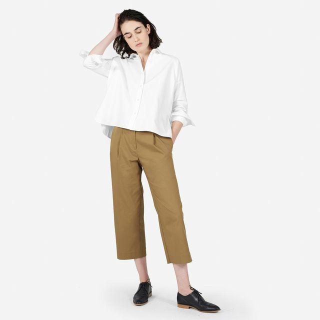 Women's Japanese Oxford Square Shirt by Everlane in White, Size 8