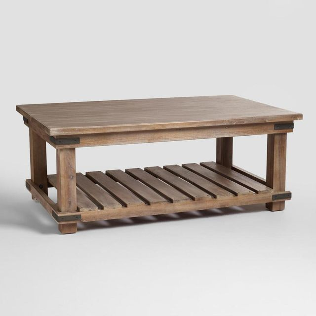 Cameron Coffee Table: Brown - Wood by World Market