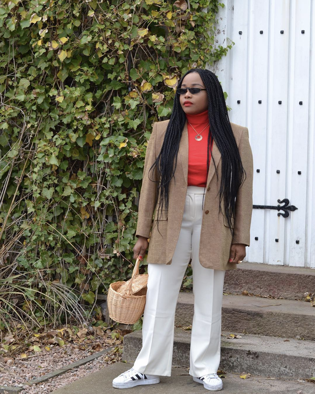 How to Wear Red with Neutrals