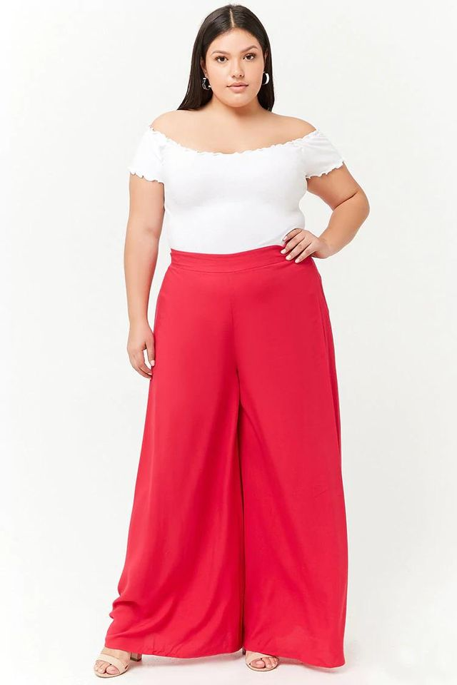 Plus Size High-Waist Palazzo Pants