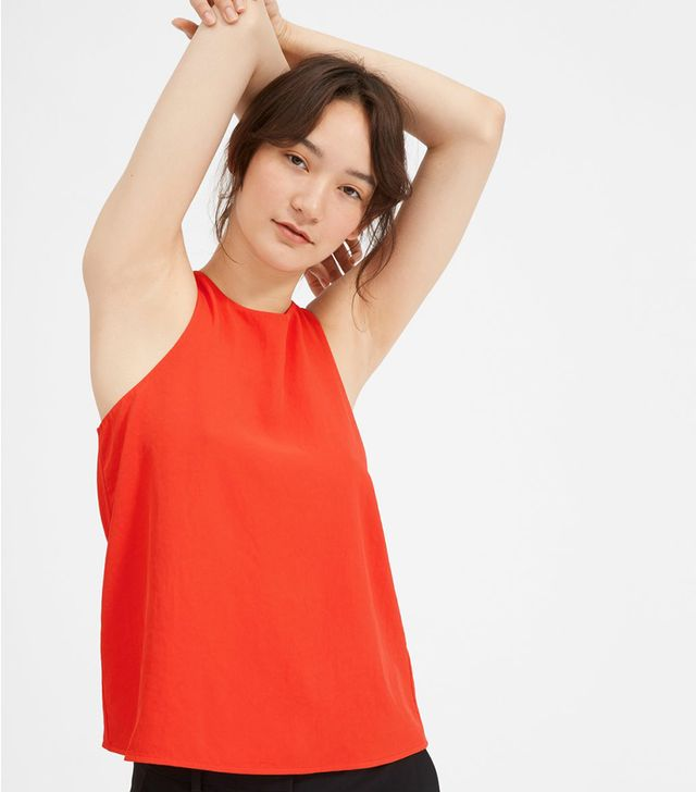 Women's Japanese GoWeave High-Neck Tank by Everlane in Poppy Red, Size 8