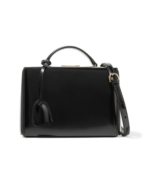 Grace Small Glossed-leather Shoulder Bag