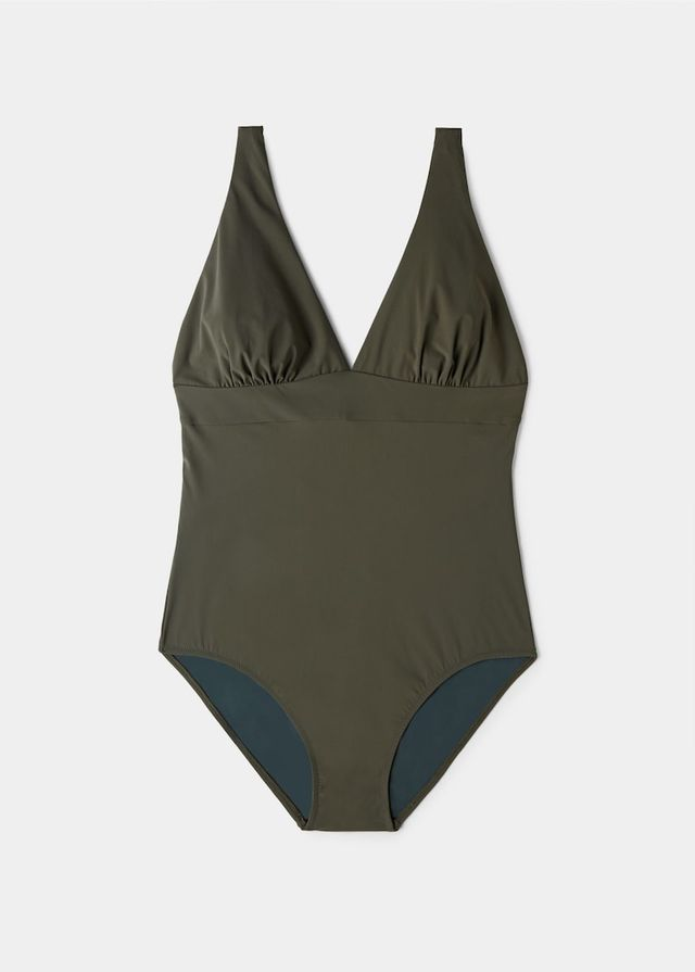 Violeta by Mango V-Neck Swimsuit