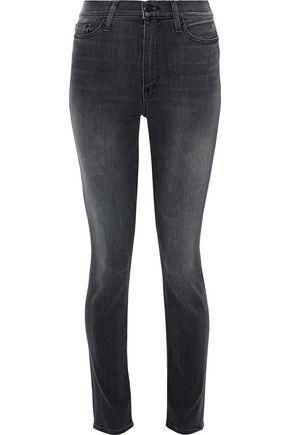 Swooner Faded Mid-rise Skinny Jeans