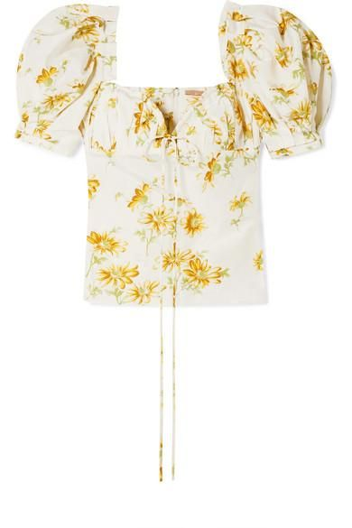 Trixie Floral-print Voile Top