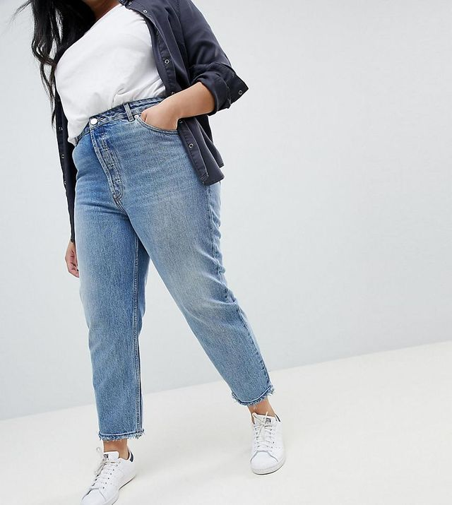 ASOS DESIGN Curve Florence authentic straight leg jeans in spring light stone wash