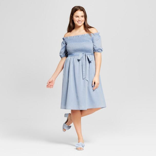 Plus Size Short Sleeve Smocked Dress