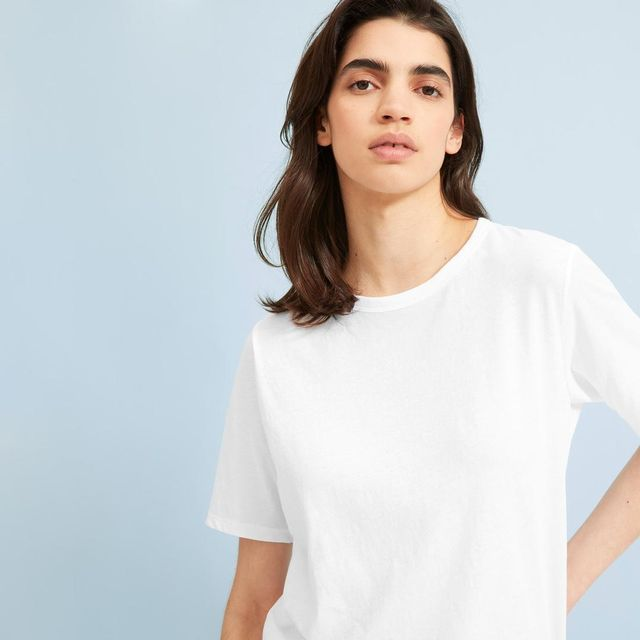 Women's Air Oversized Crew T-Shirt by Everlane in White, Size XXS