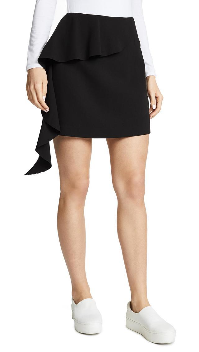 Asymmetrical Miniskirt with Ruffle