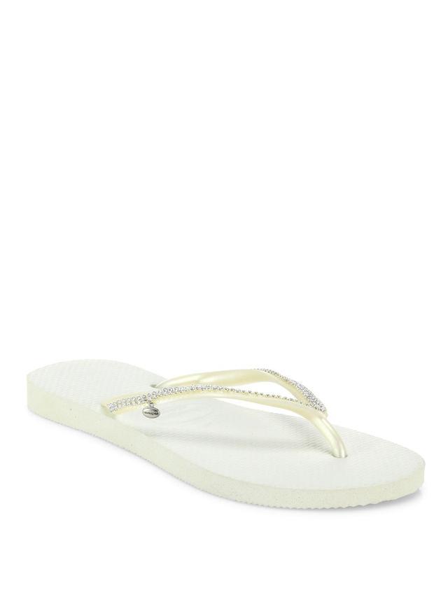 Slim Crystal Mesh Flip Flops