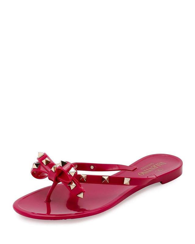 Rockstud PVC Flat Thong Sandal